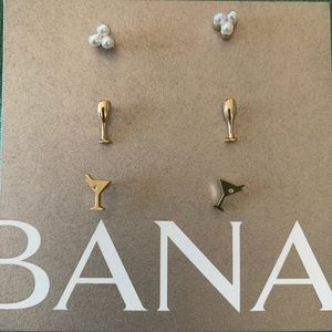 NWT Banana Republic earring set